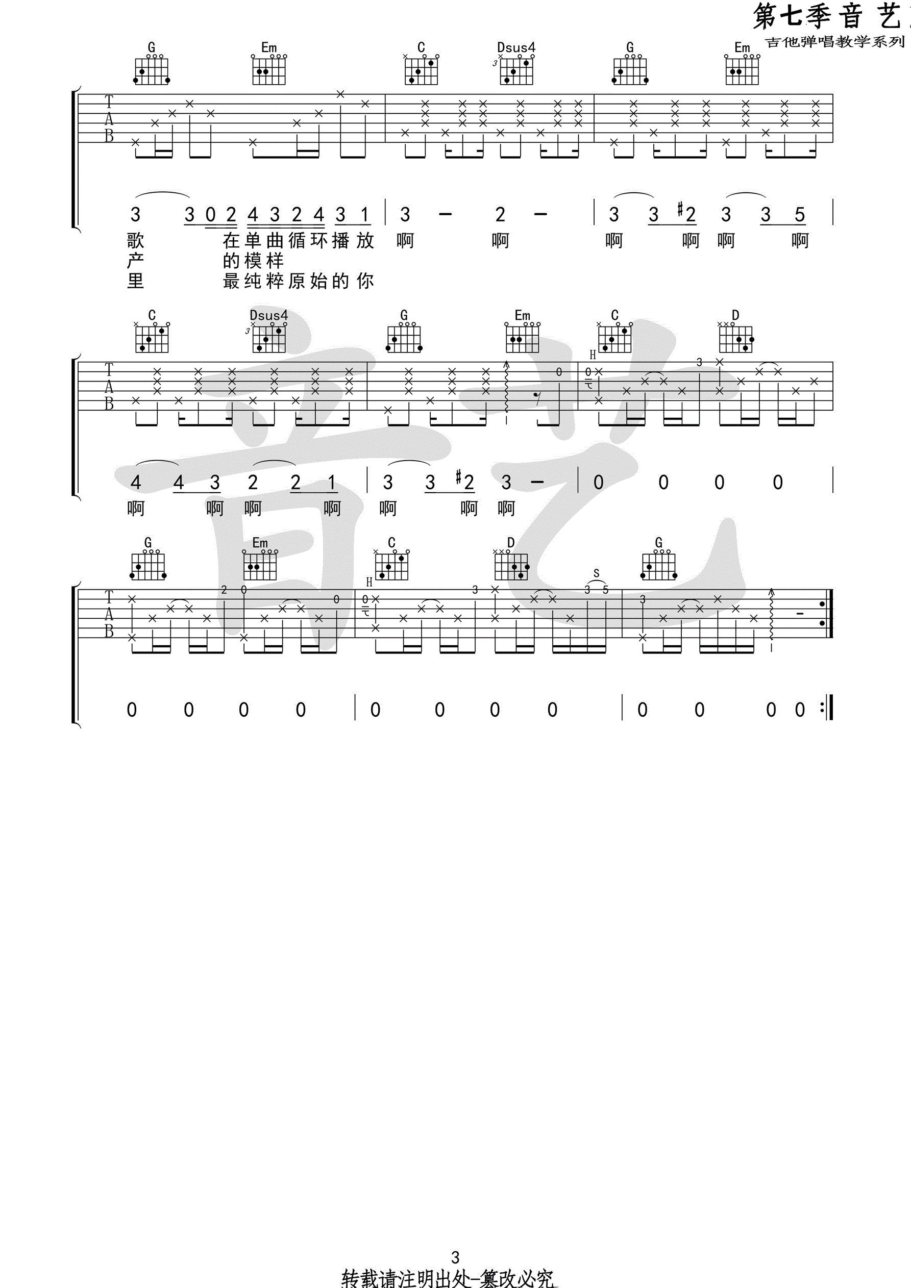 這是你想要的生活嗎-房東的貓-图片吉他谱-3
