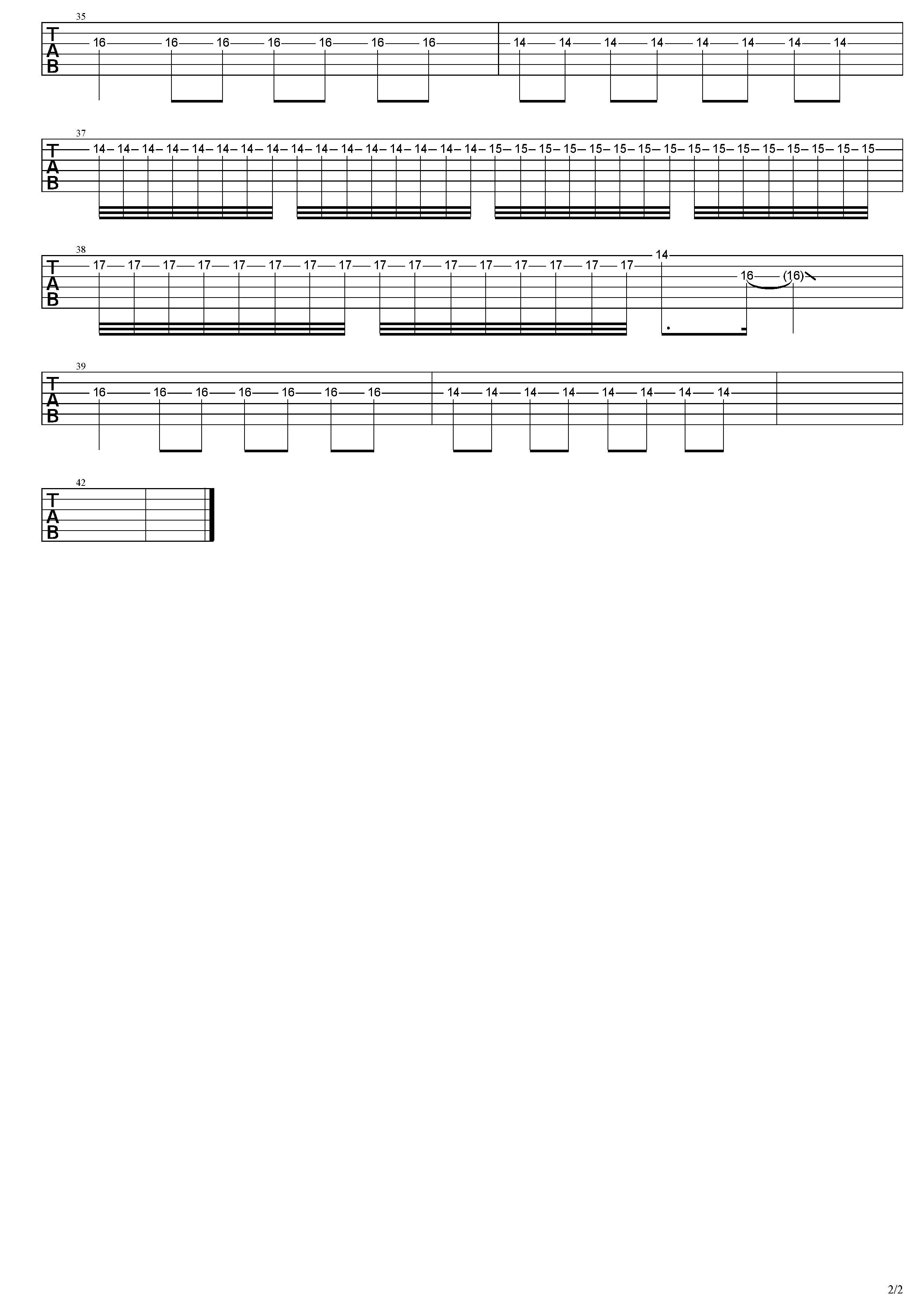 情歌-草東沒有派對-图片吉他谱-2