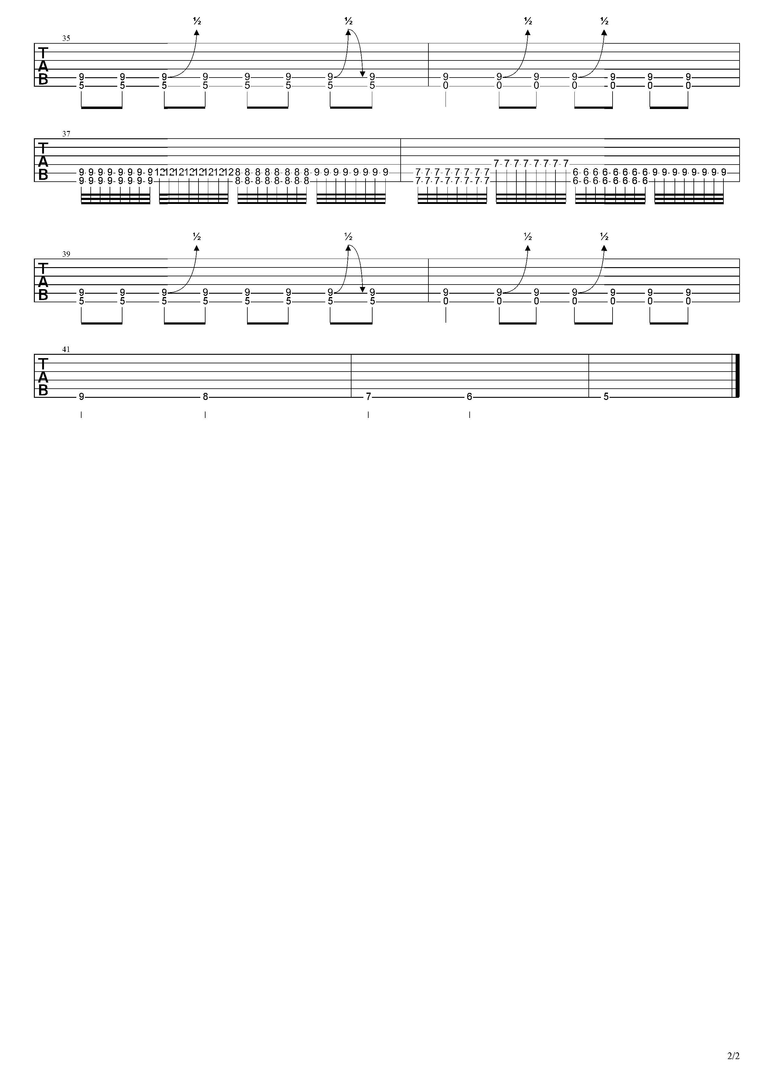 情歌-草東沒有派對-图片吉他谱-4