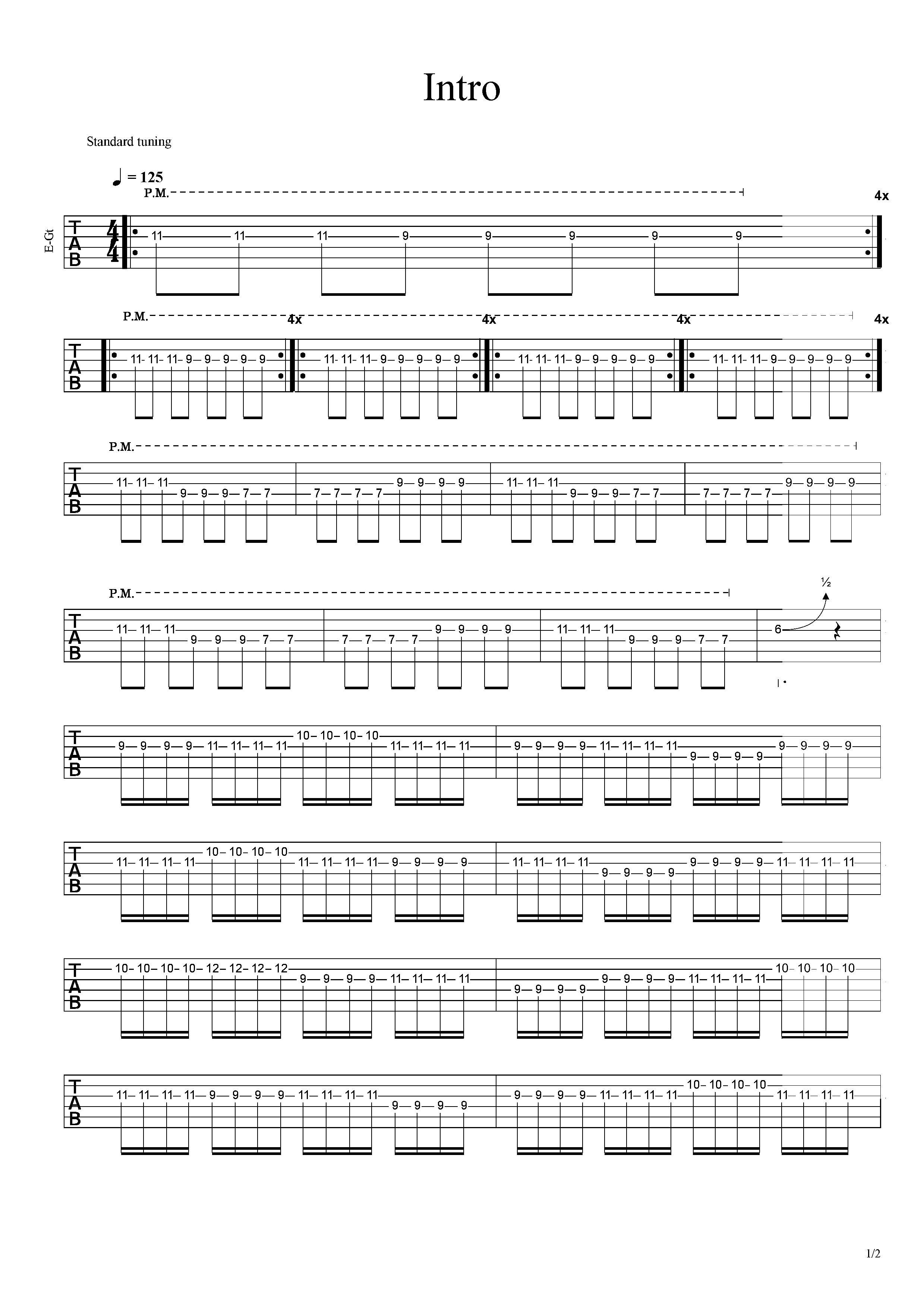 Intro-草東沒有派對-图片吉他谱-2