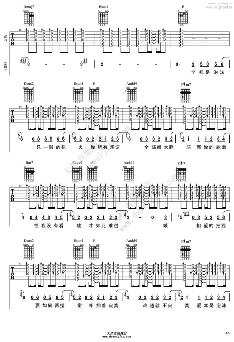 泡沫-鄧紫棋 / G.E.M.-图片吉他谱-3