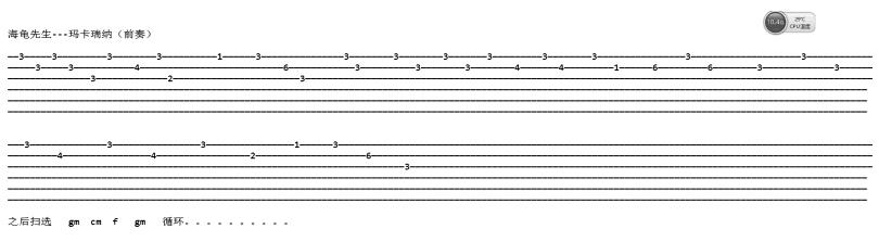 瑪卡瑞納-海龜先生-图片吉他谱-0