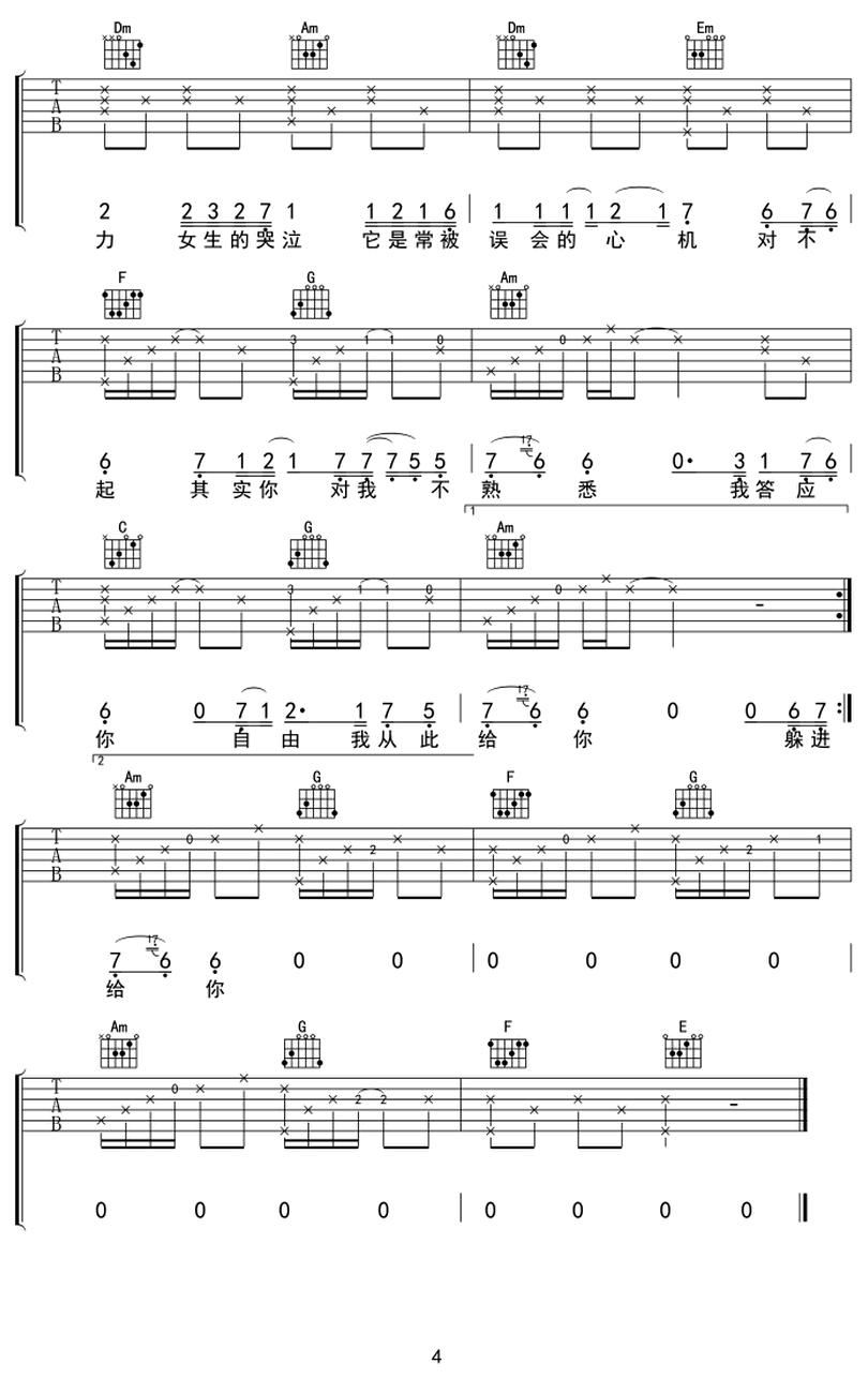 Mascara -鄧紫棋 / G.E.M.-图片吉他谱-3