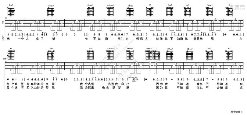 後會無期-鄧紫棋 / G.E.M.-图片吉他谱-1