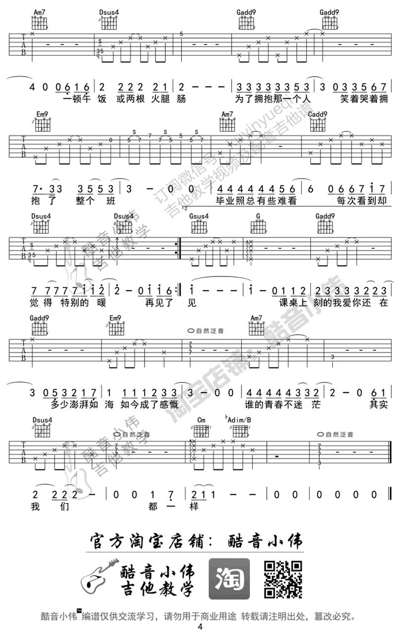 不說再見-許飛-图片吉他谱-3