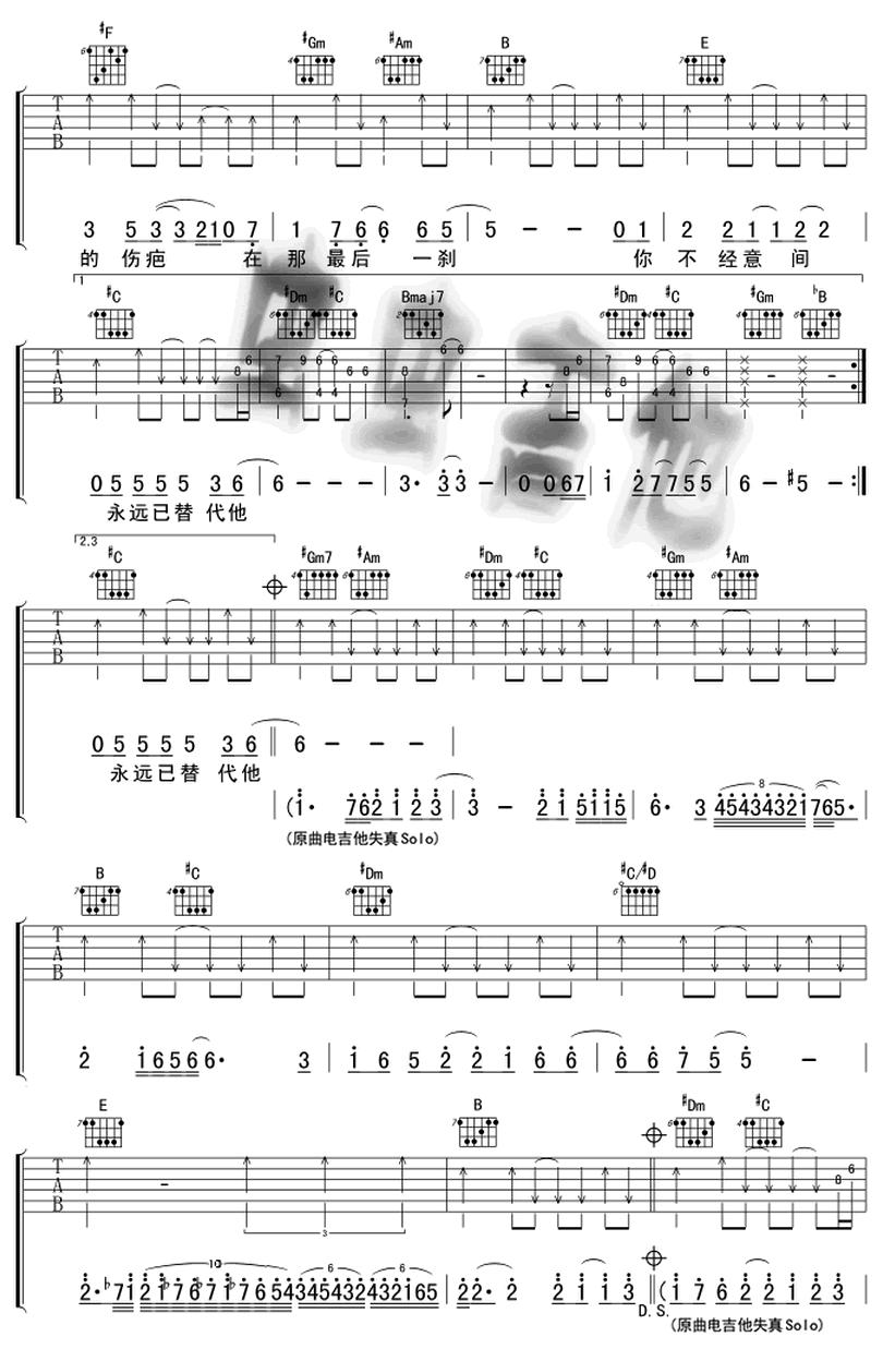 當我遇上你-劉德華-图片吉他谱-2