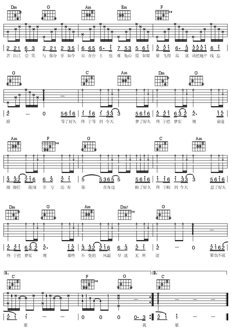 今天-劉德華-图片吉他谱-1