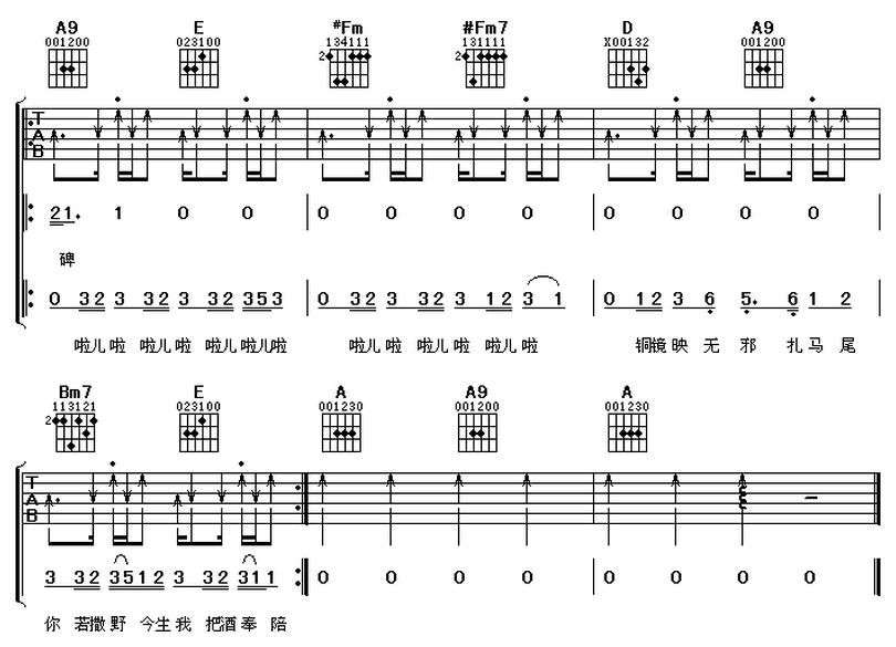 發如雪-周杰倫-图片吉他谱-3