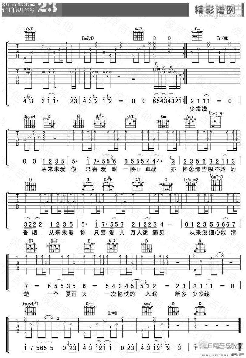 綿綿-陳奕迅-图片吉他谱-2