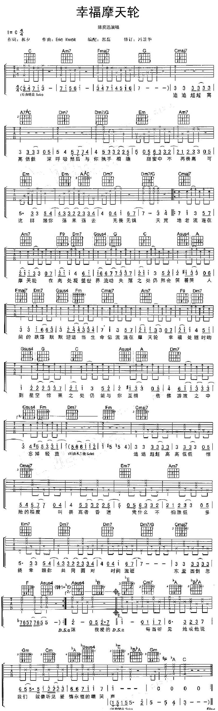 幸福摩天輪-陳奕迅-图片吉他谱-0