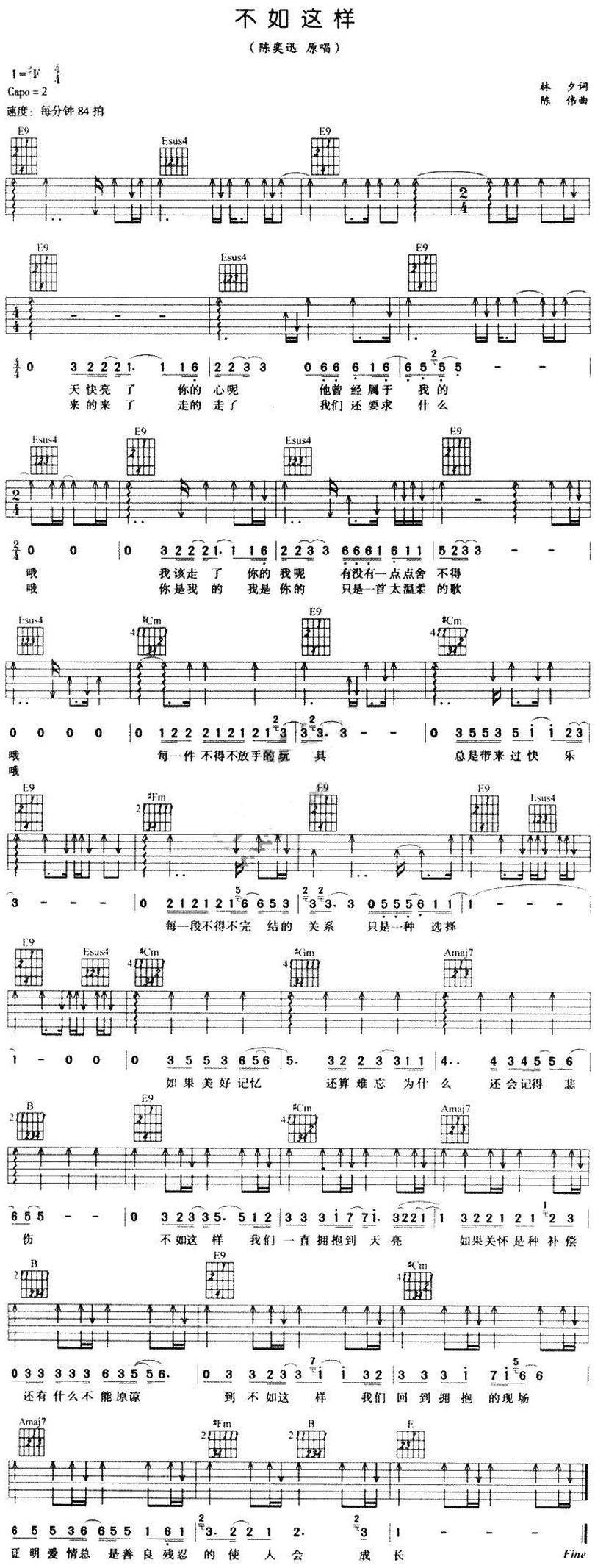 不如這樣-陳奕迅-图片吉他谱-0