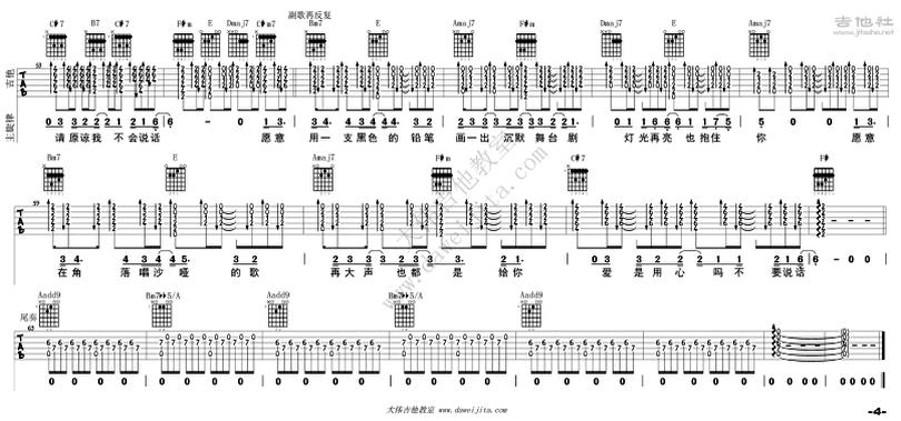 不要說話-陳奕迅-图片吉他谱-3
