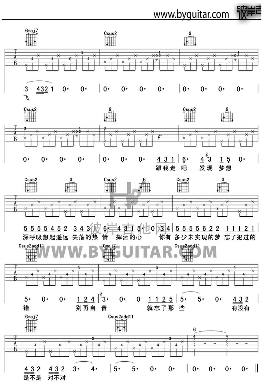忘了-蔡健雅-图片吉他谱-1