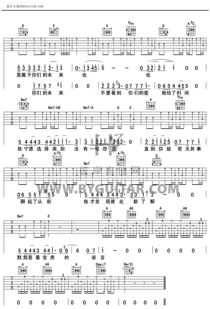 原點-蔡健雅-图片吉他谱-2