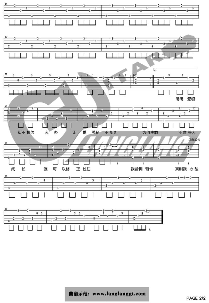 心酸-林宥嘉-图片吉他谱-1