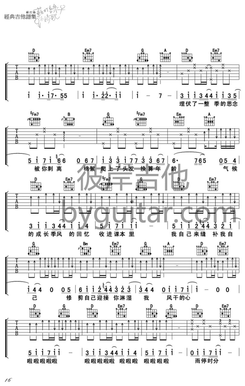 交響夢-蘇打綠-图片吉他谱-2