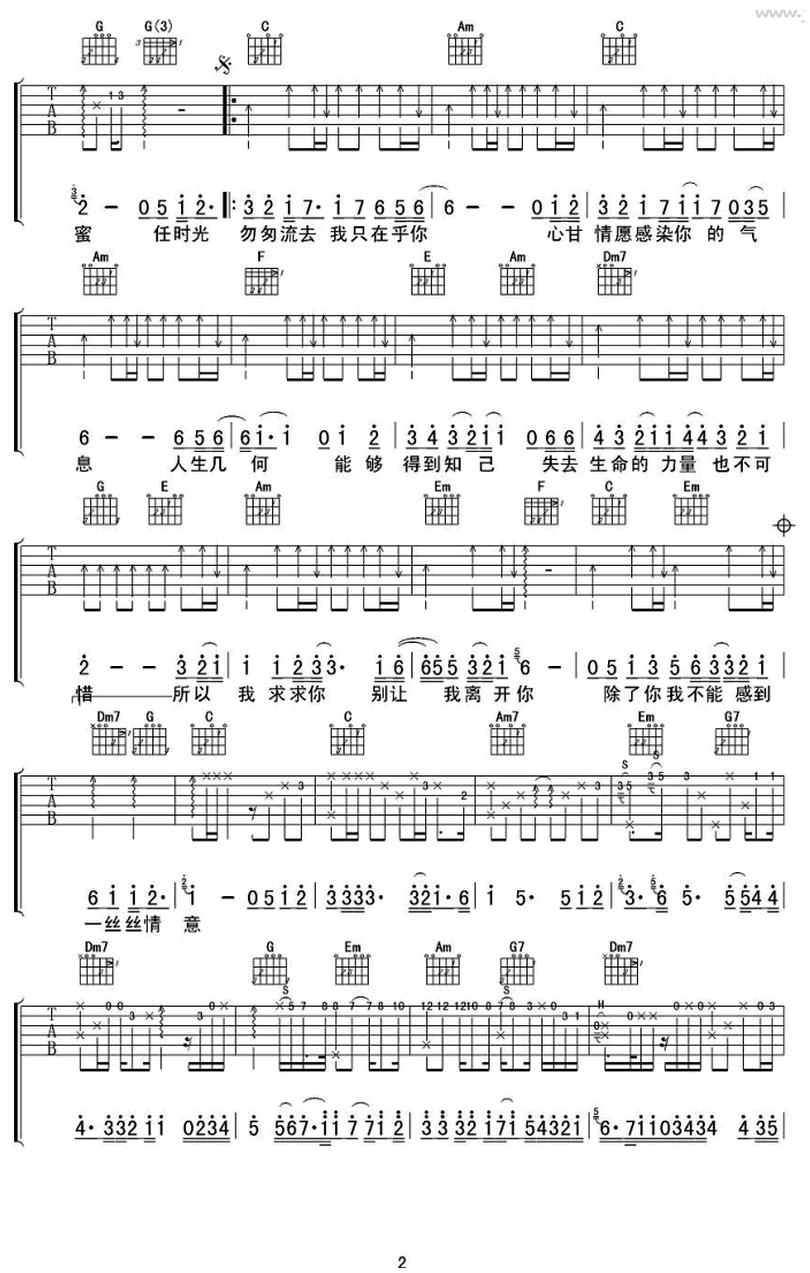 我只在乎你-蘇打綠-图片吉他谱-1