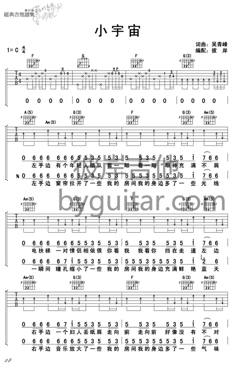 小宇宙-蘇打綠-图片吉他谱-0