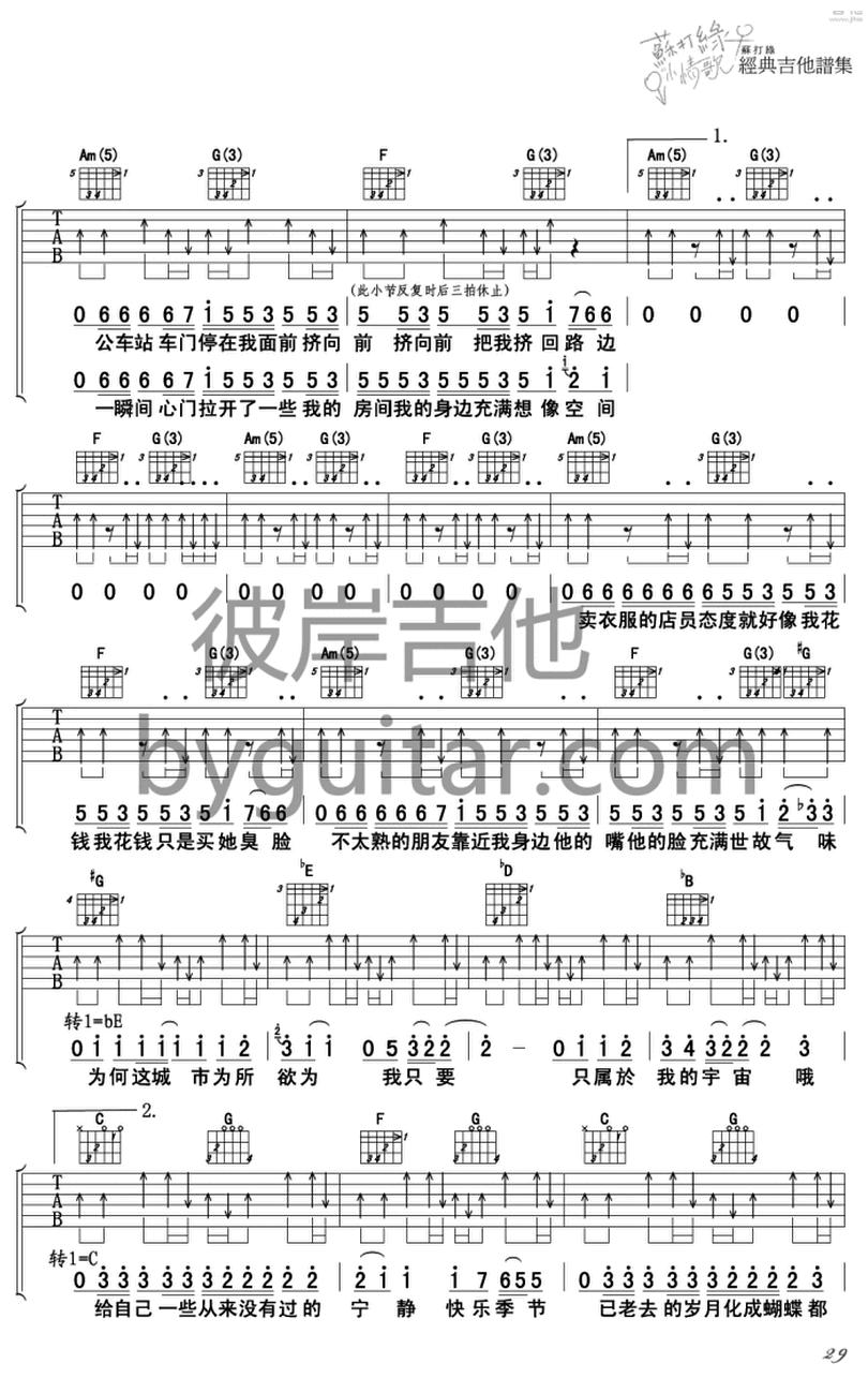 小宇宙-蘇打綠-图片吉他谱-1