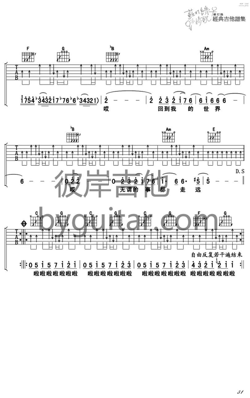 小宇宙-蘇打綠-图片吉他谱-3