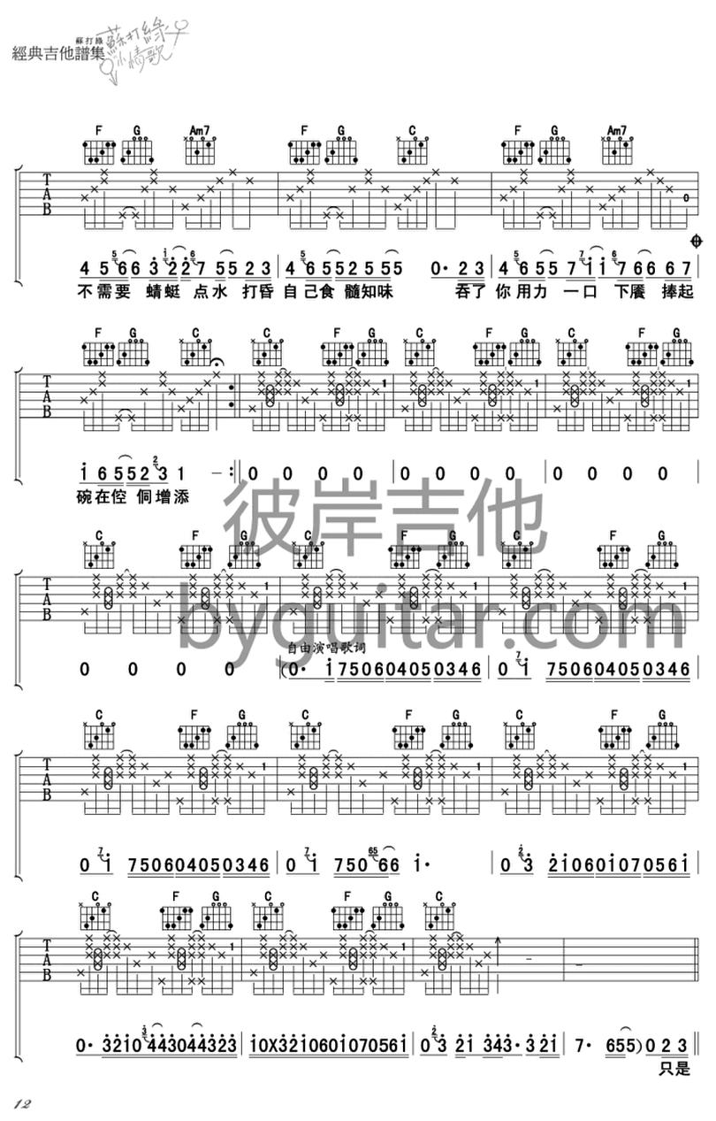 遲到千年-蘇打綠-图片吉他谱-1
