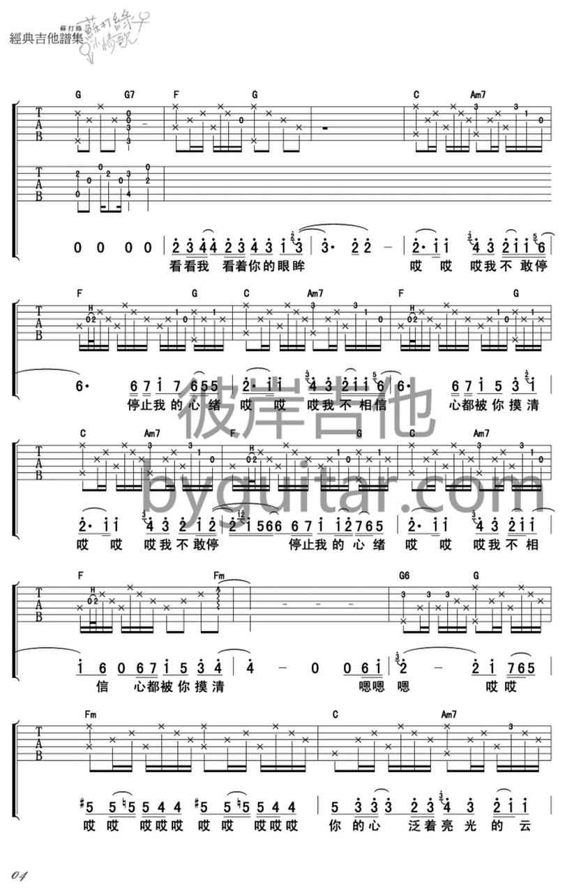 被雨困住的城市-蘇打綠-图片吉他谱-3
