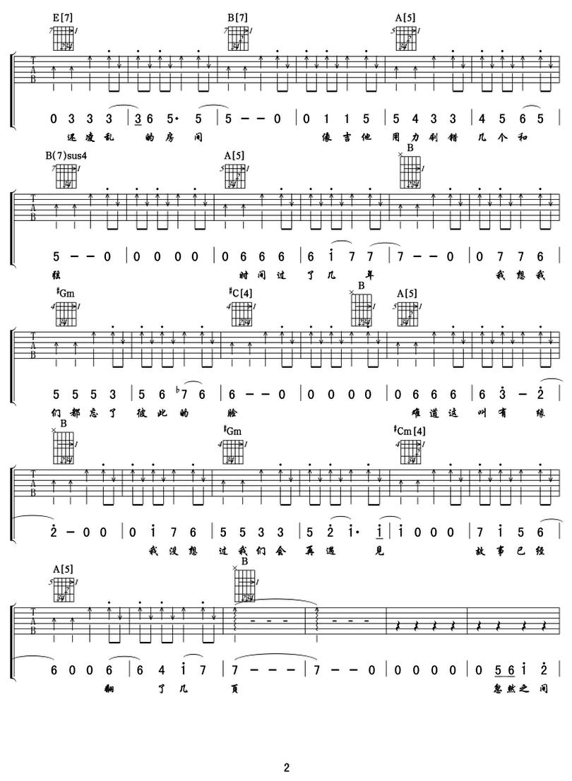 再遇見-蘇打綠-图片吉他谱-1