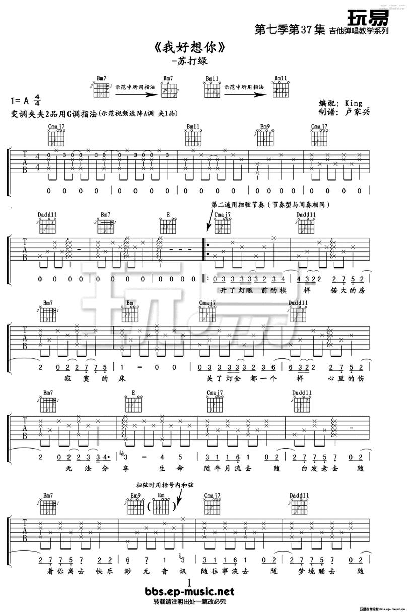 我好想你-蘇打綠-图片吉他谱-0