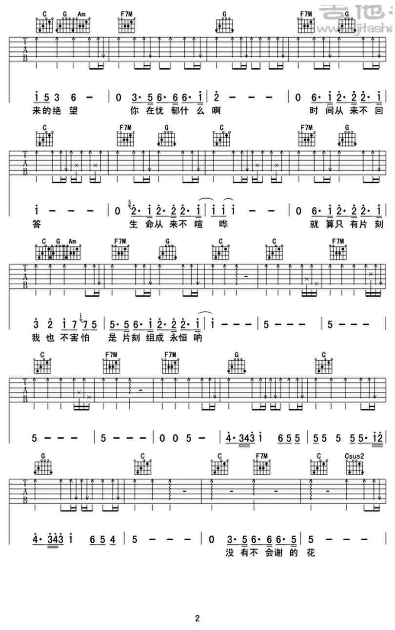 你在煩惱什麼-蘇打綠-图片吉他谱-1