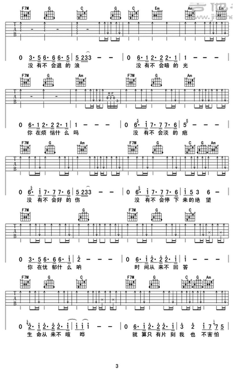 你在煩惱什麼-蘇打綠-图片吉他谱-2