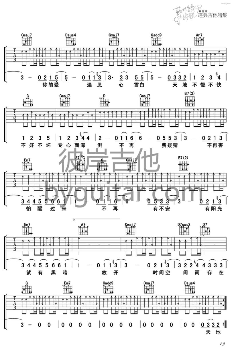 融雪之前-蘇打綠-图片吉他谱-1