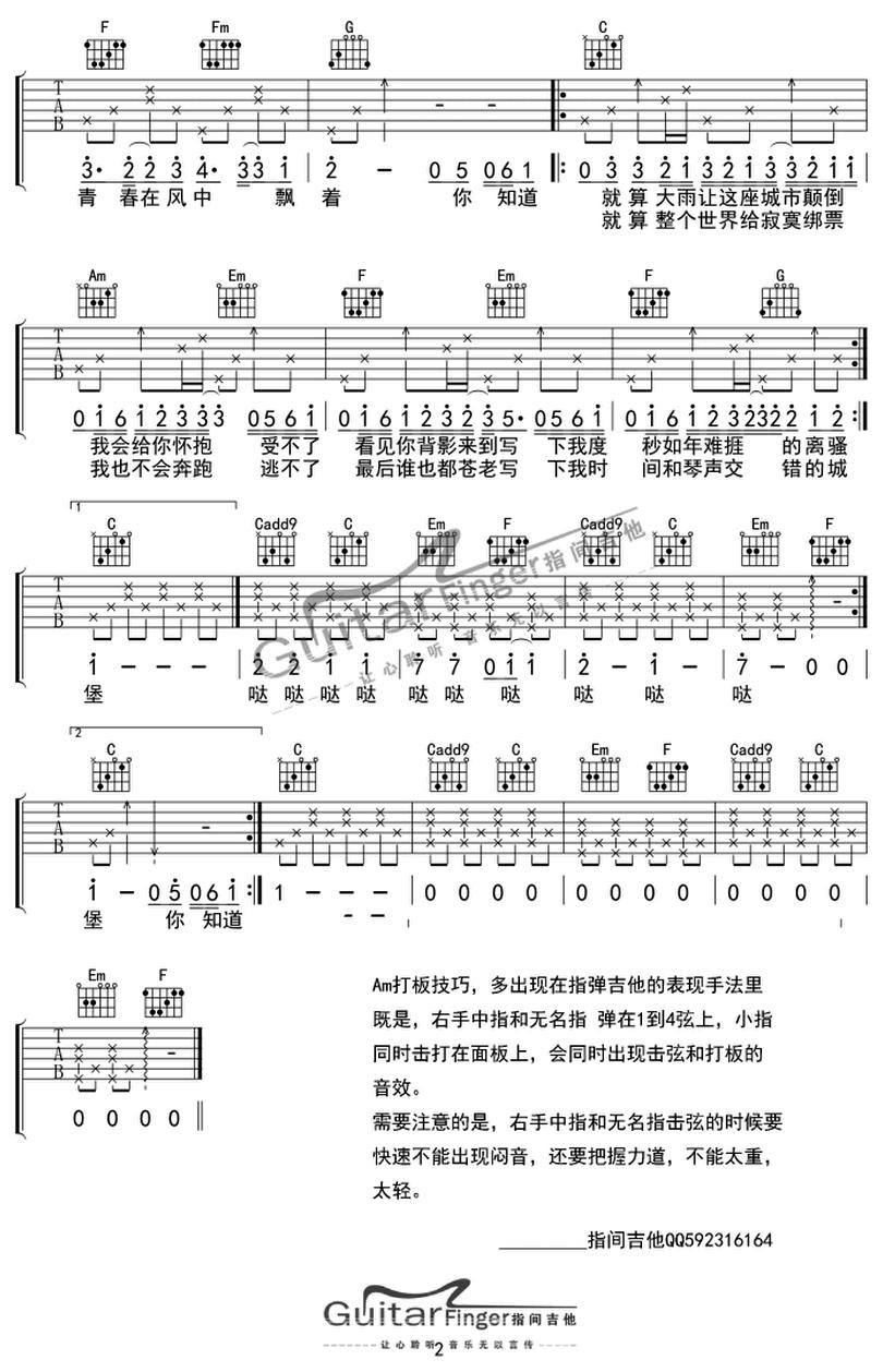小情歌-蘇打綠-图片吉他谱-1