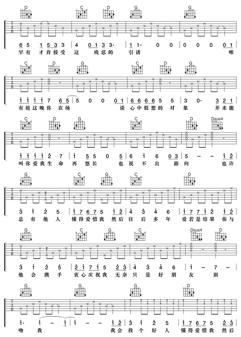 好朋友-樑漢文-图片吉他谱-2