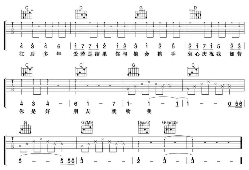 好朋友-樑漢文-图片吉他谱-3