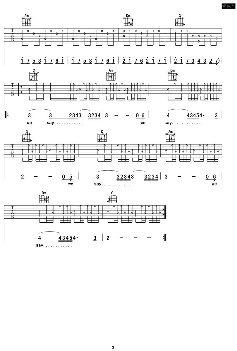 時光-許巍-图片吉他谱-2
