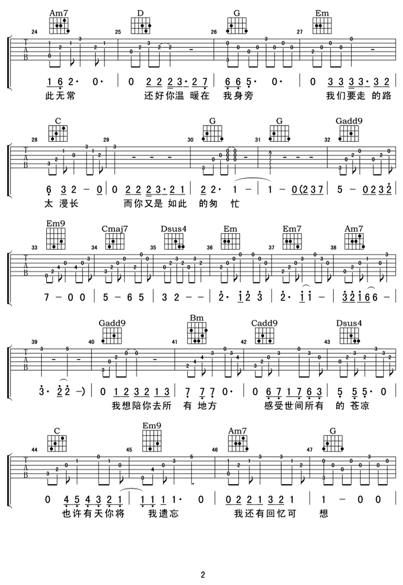 還好有你-品冠-图片吉他谱-1