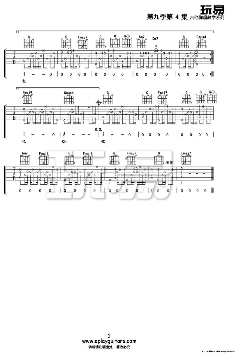 好想好想-古巨基-图片吉他谱-1